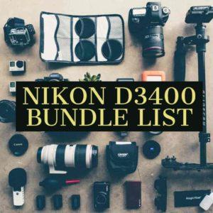 Nikon D3400 Bundle Accessories