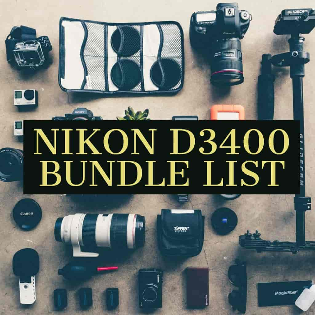 Nikon D3400 Bundle Accessories