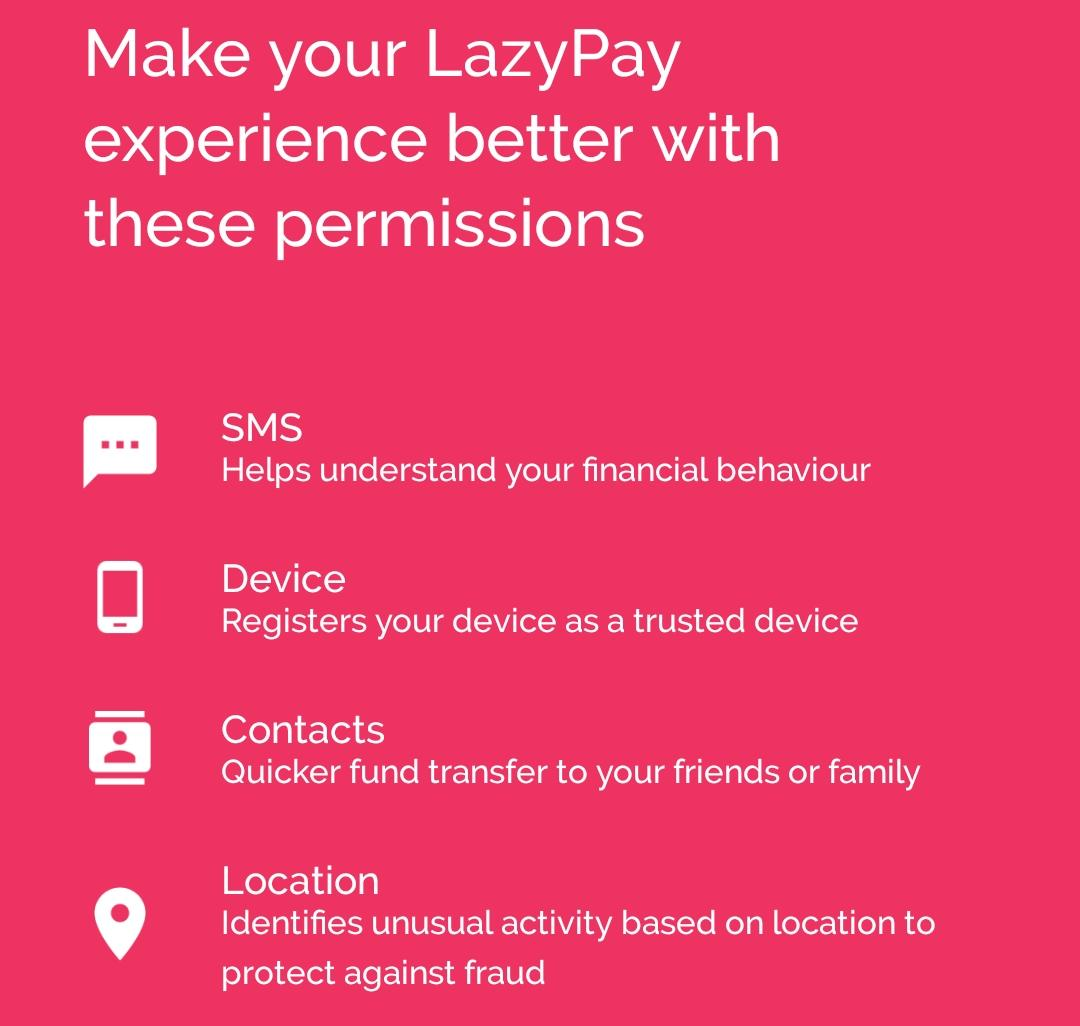 LazyPay Permision