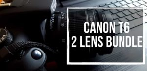 Canon Eos rebel t6 DSLR camera 2 lens bundle