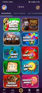 games in winzo gold app