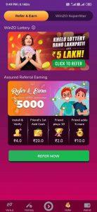 reffer and earn in winzo gold app