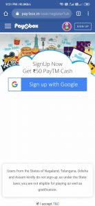 Refer by PayBox App