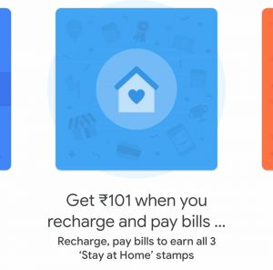 google pay stay at home stamp offer